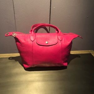 Longchamp Le Pliage Cuir Top Handle Small Satchel
